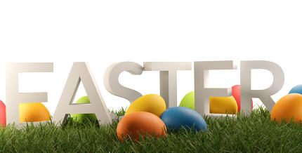 free download: Easter eggs with bold letters Easter 3d-illustration