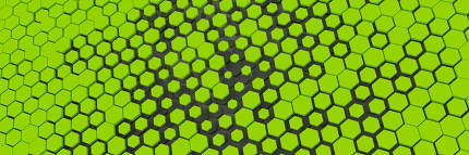 green yellow hexagon background