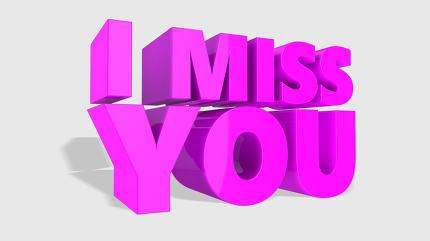 I Miss You 3d Design