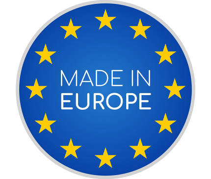 made in Europe symbol icon 3d-illustration isolated on white