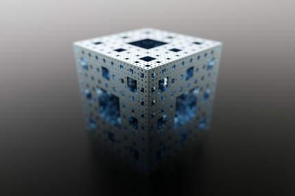 metal menger sponge fractal