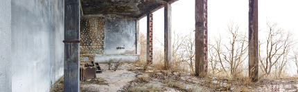 Old abandoned ruined hotel in macedonia