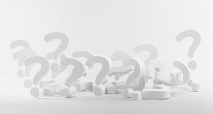 pile of questions marks 3d-illustration