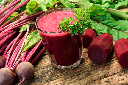 Smoothie from organic beetroots