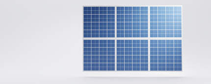 solar panel blue background design 3d-illustration