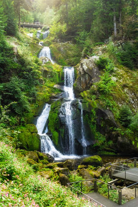 waterfall at Triberg in the black forest area Germany