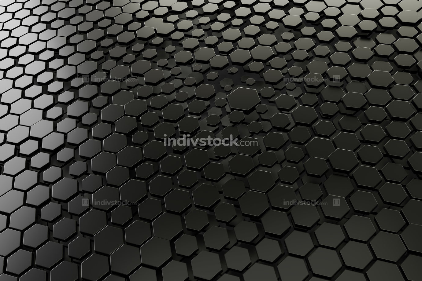black and white hexagon background