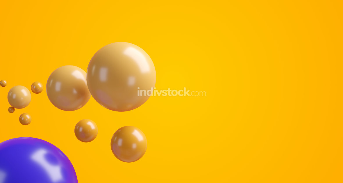 bubble balls orange creative design 3d-illustration