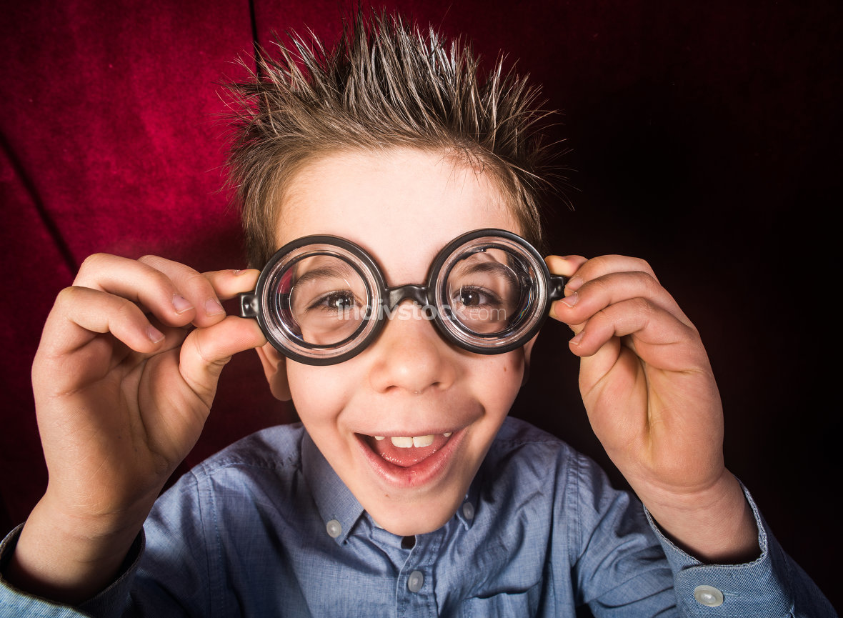 Child with big glasses