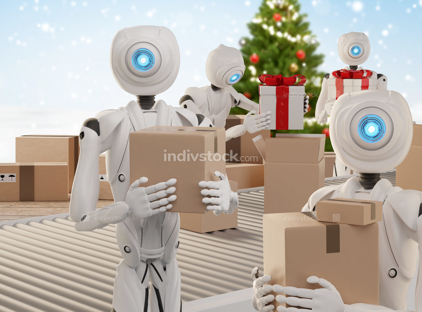 Christmas presents logistics pack gifts ready to ship with auton