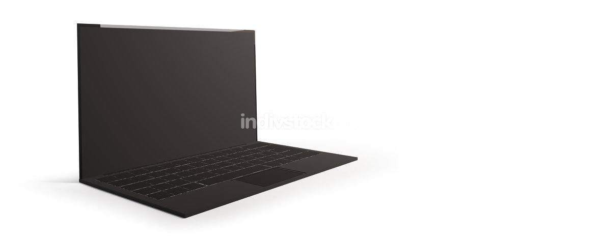 computer isolated on white background 3d-illustration