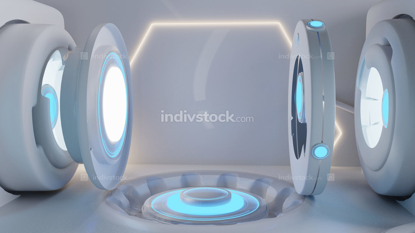 creative technology background with copy space 3d-illustration