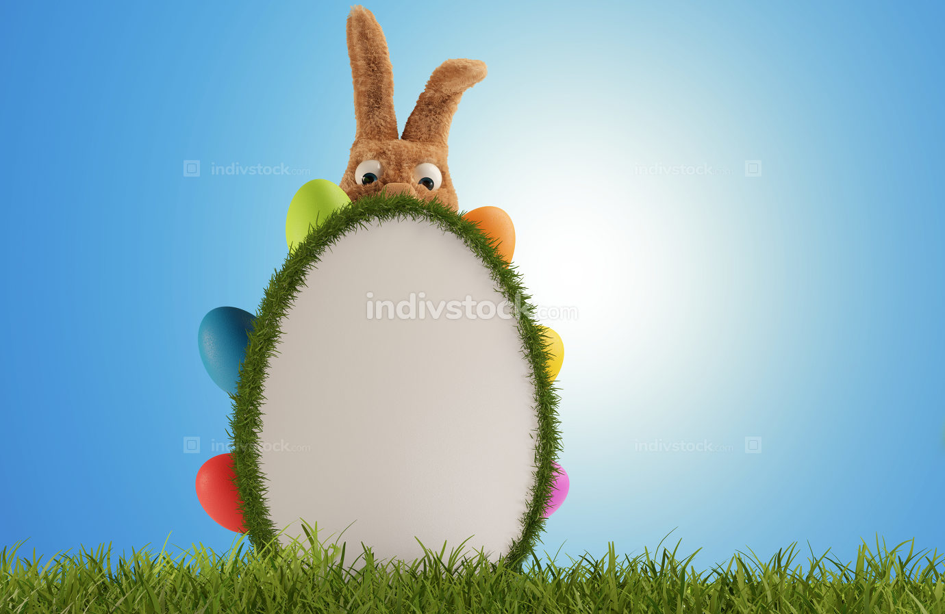 Easter Greeting Board 3d-illustration
