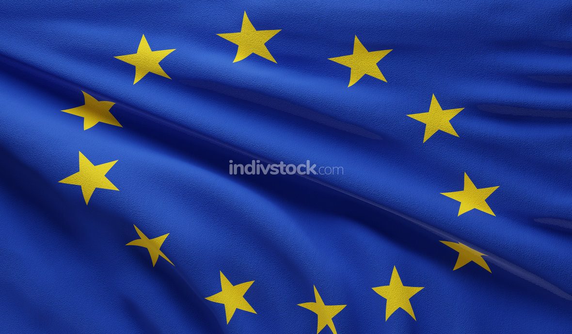 flag of Europe background 3d-illustration