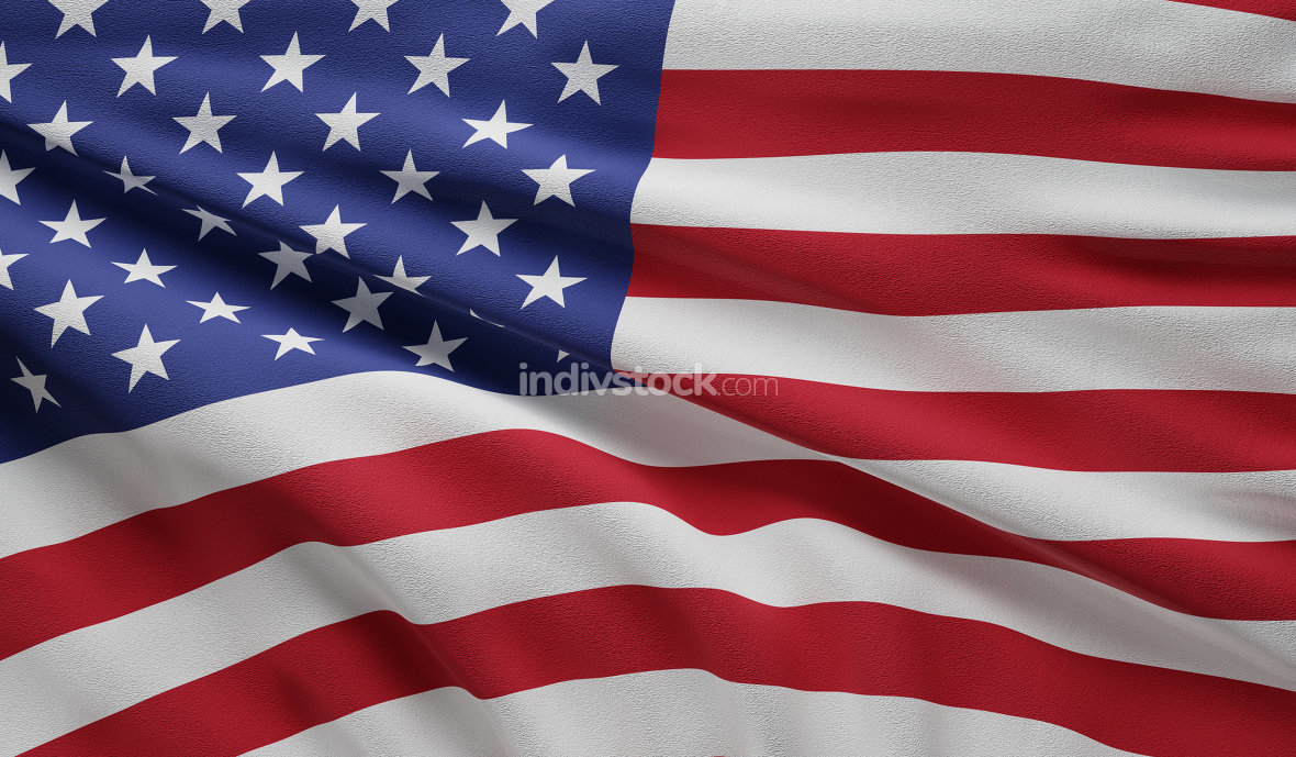 flag of the United states of America background 3d-illustration