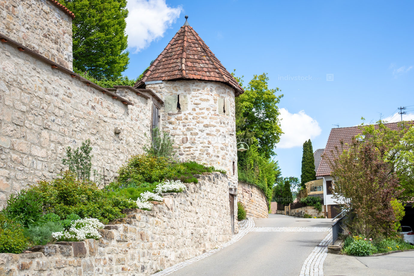 Fortified church at Bergfelden south Germany