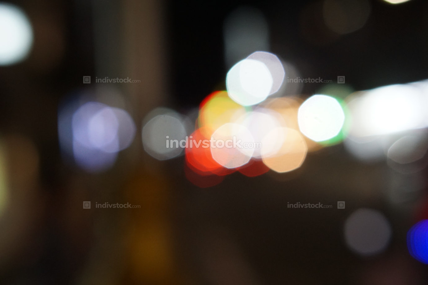 free download: city street lights blurred background