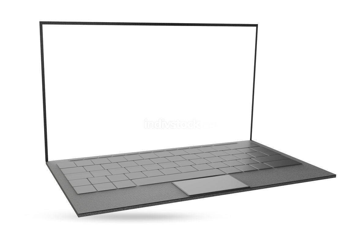 free download: computer notebook laptop 3d-illustration isolated on white