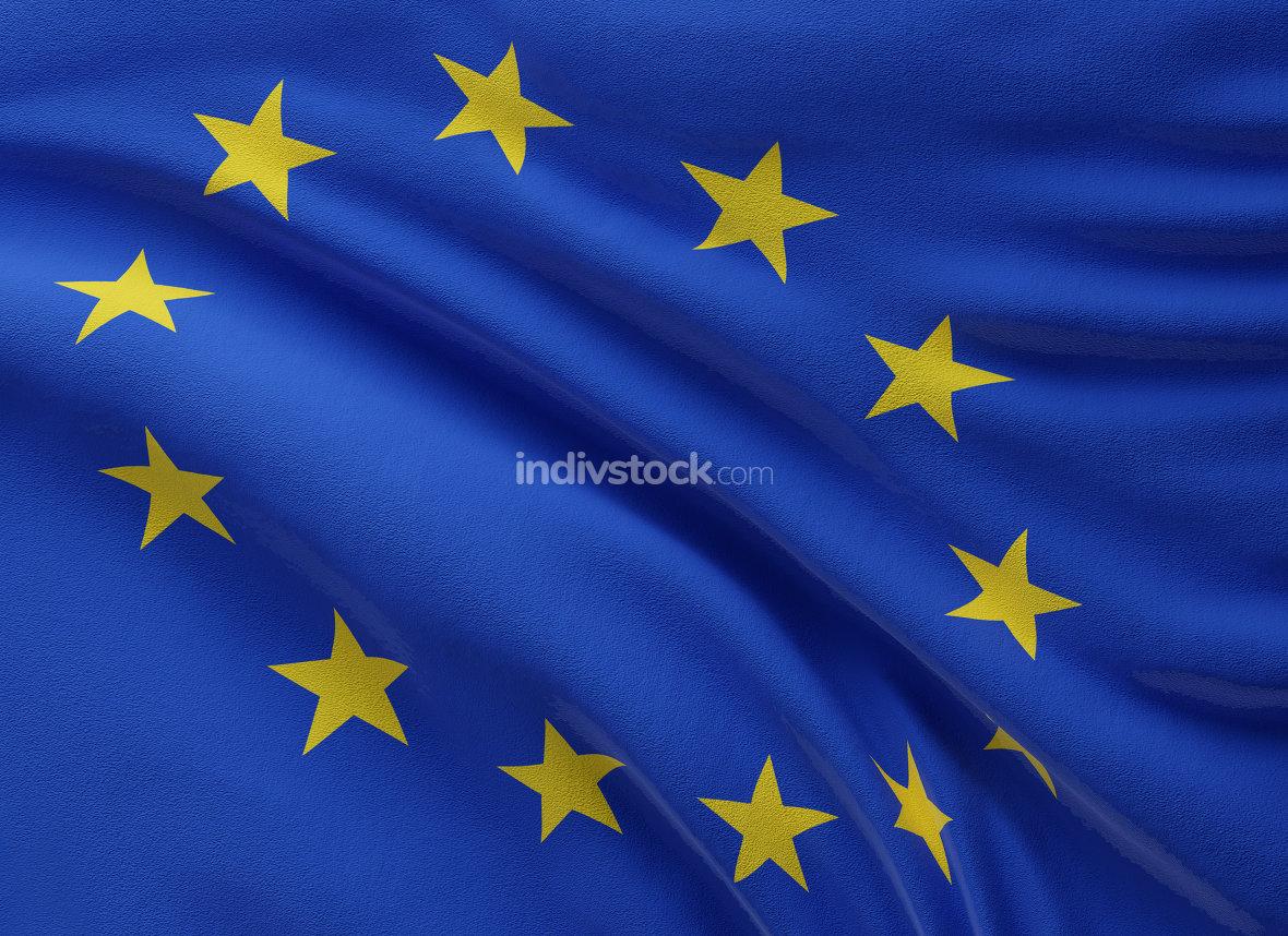 free download: flag of Europe background 3d-illustration