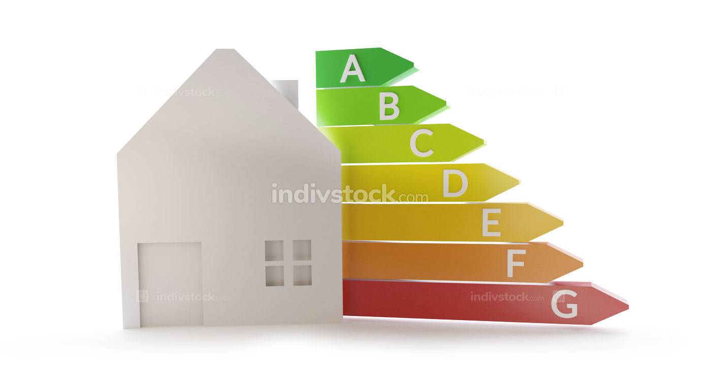 free download: house energy rating 3d-illustration