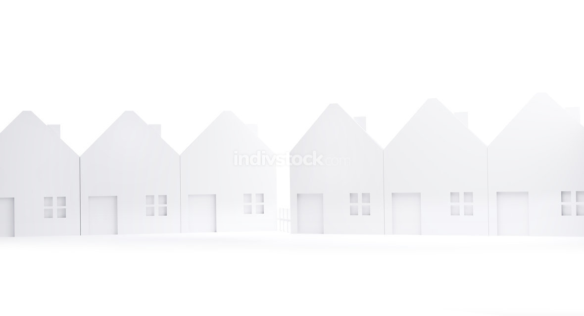free download: house white silhouette design isolated on white 3d-illustration