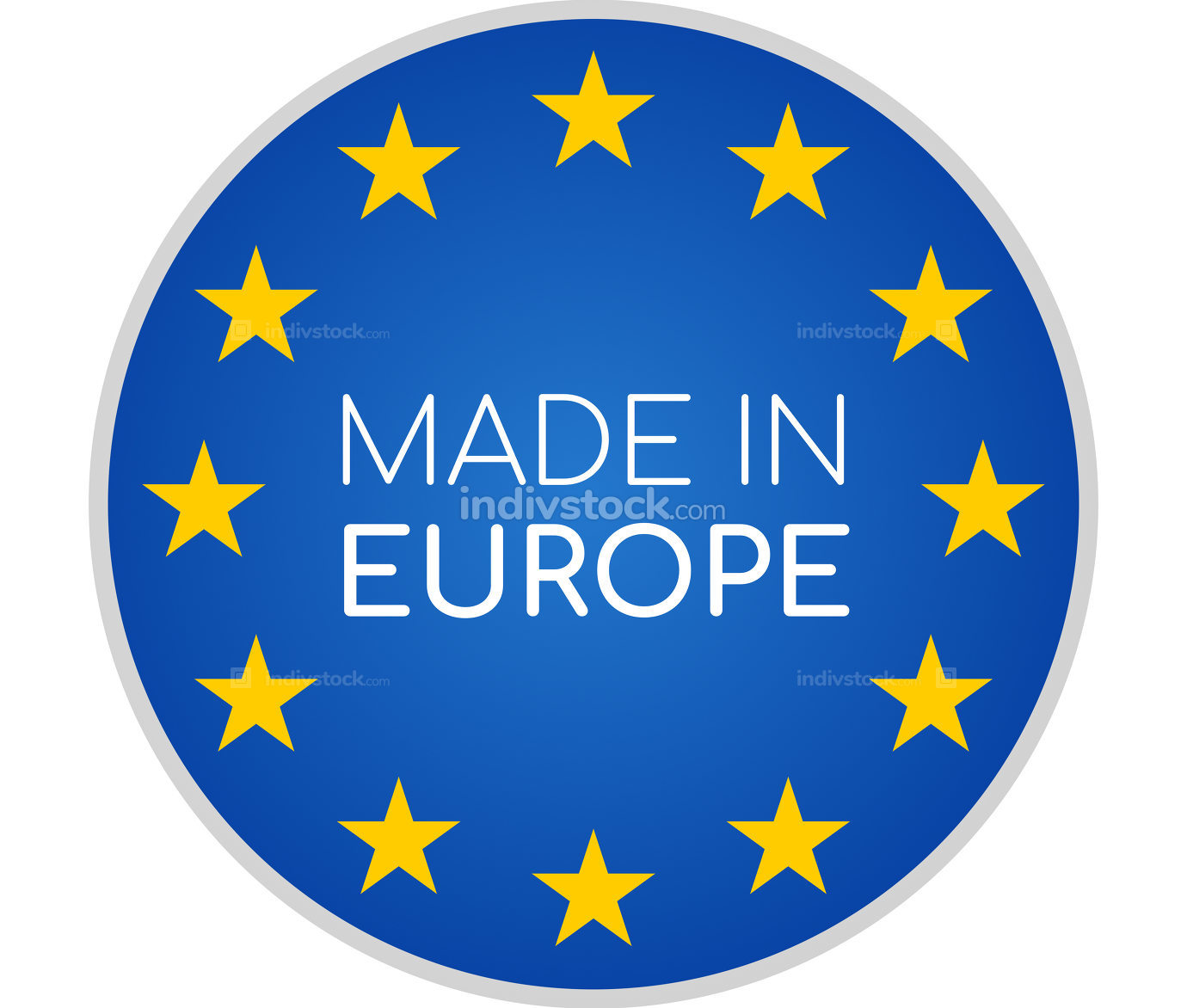 free download: made in Europe symbol icon 3d-illustration isolated on white