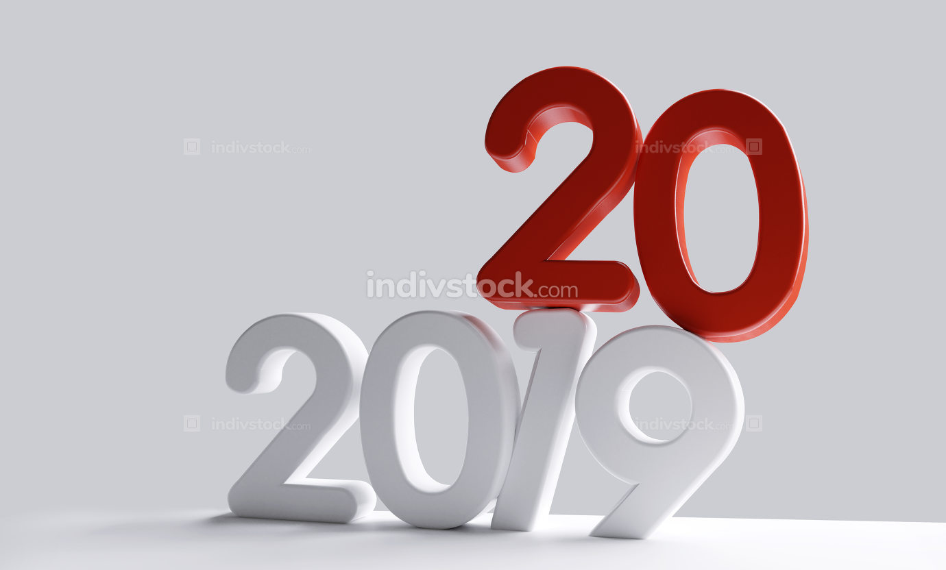 free download: new year 2020 bold letters 3d-illustration