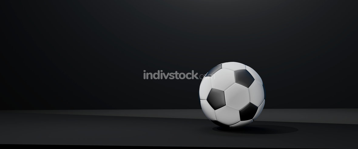 free download: soccer ball black white 3d-illustration