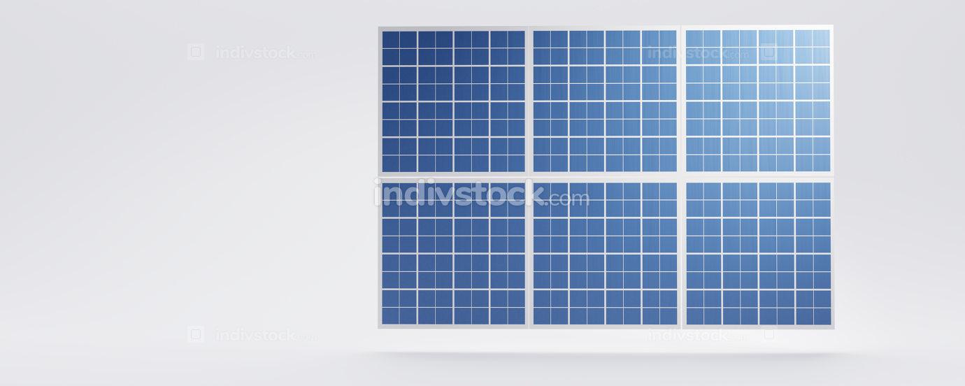 free download: solar panel blue background design 3d-illustration