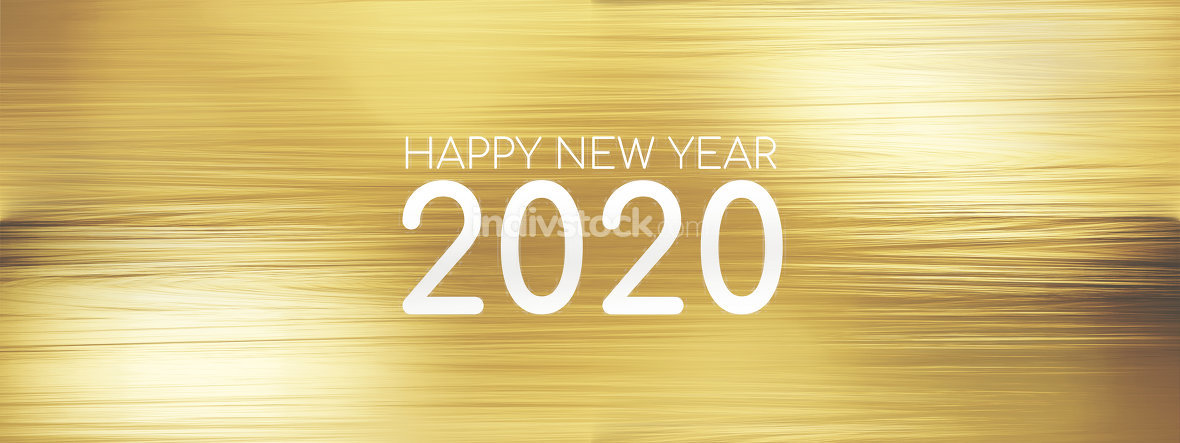 golden background 2020 abstract 3d-illustration