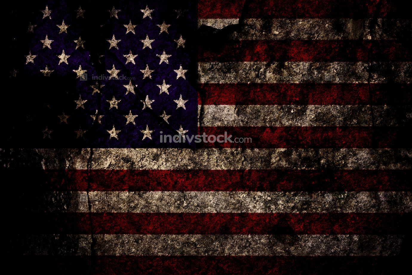 Grunge rocky US flag