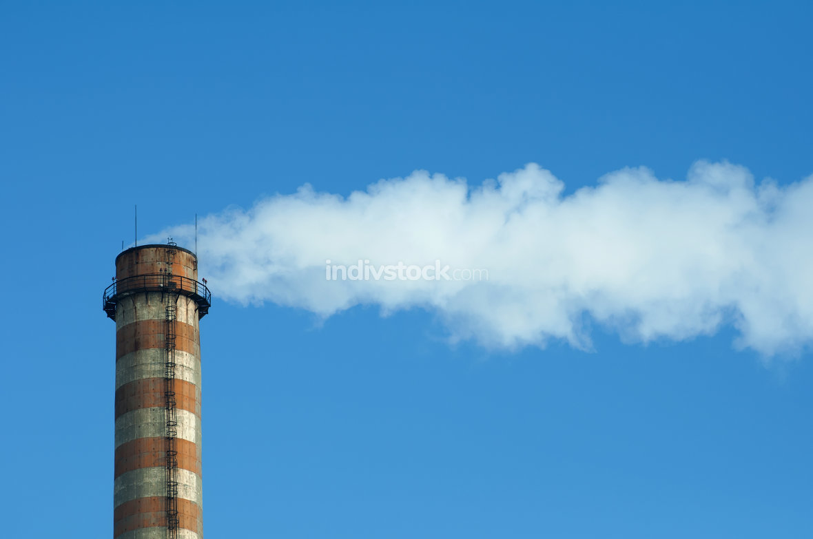 Industrial smoking chimney