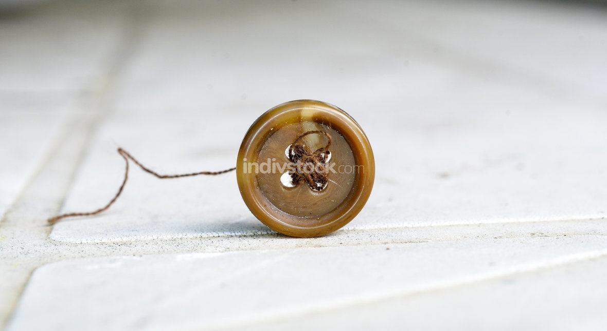 old brown sewing button