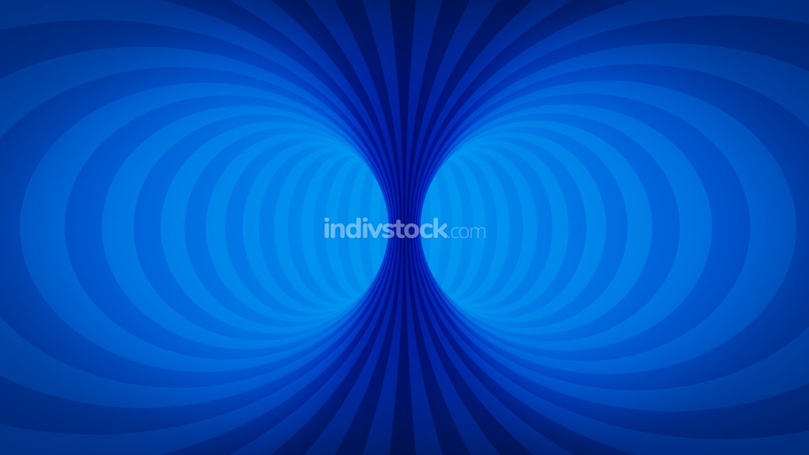 optical illusion blue tunnel