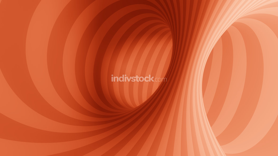 optical illusion red tunnel