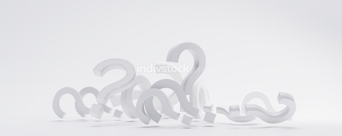 pile of question marks 3d-illustration