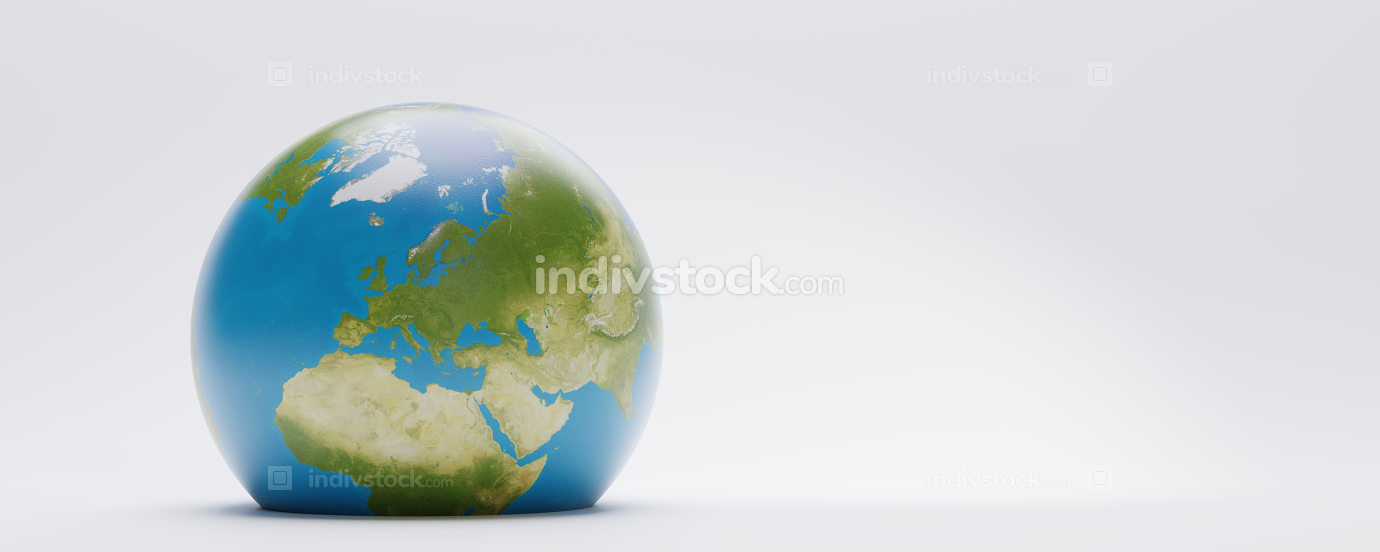 planet earth world 3d-illustration. elements of this image furnished by NASA