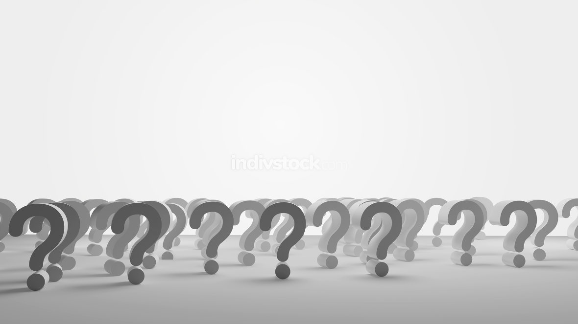 questions marks background design 3d-illustration