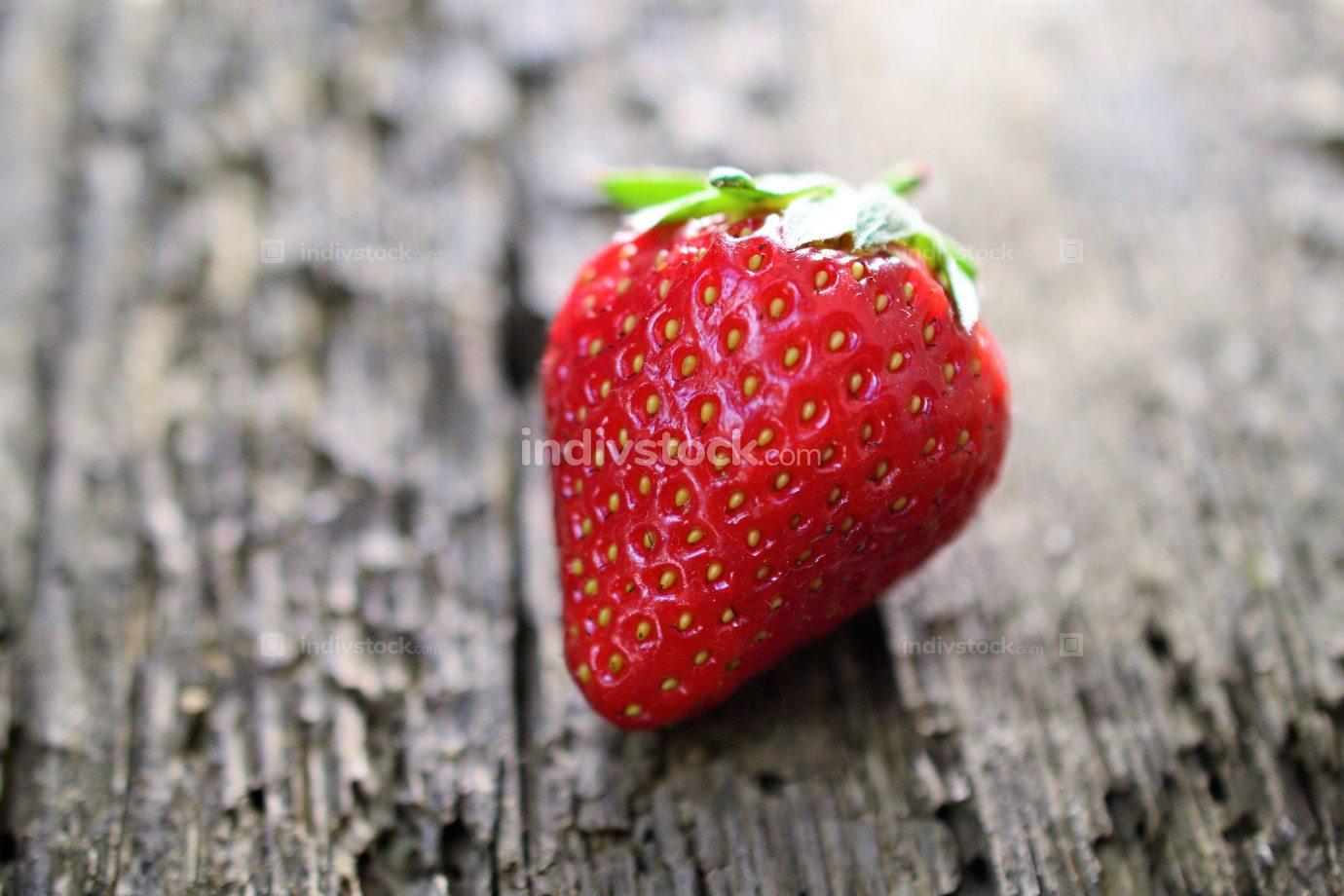 Strawberry. Fresh berry fruit,