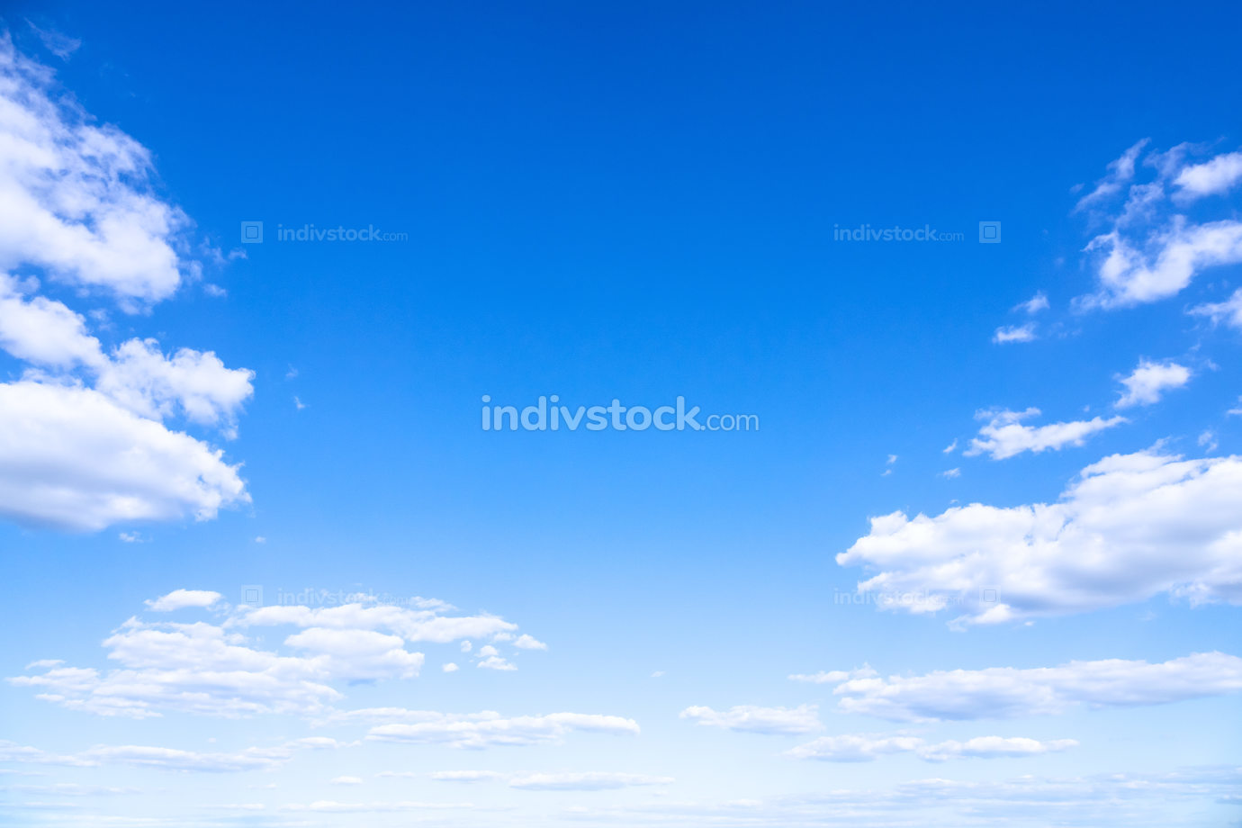 typical beautiful blue sky clouds background