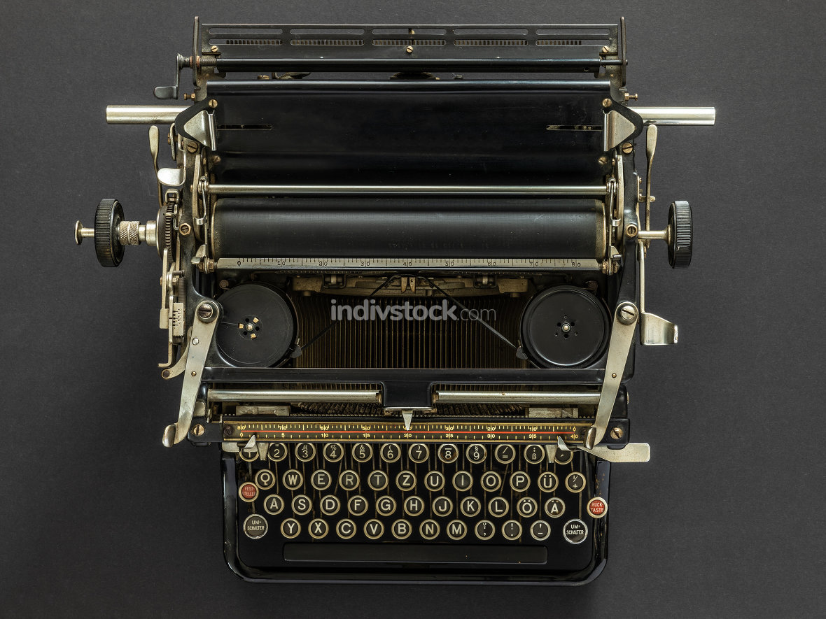 Vintage typewriter retro technology