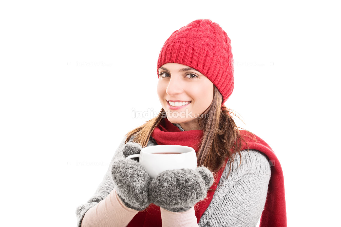 Winter clothes and hot tea