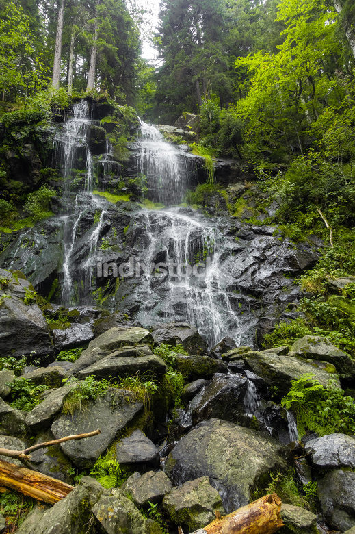 Zweribach waterfalls south Germany