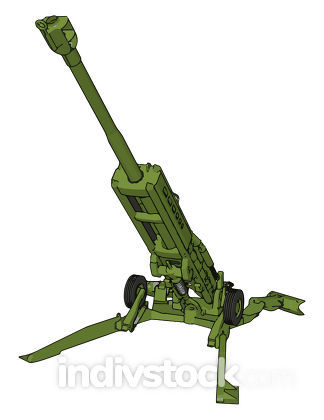 3D vector illustration of a military surface-to-air missile laun