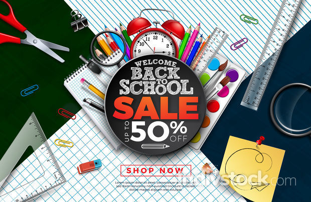 Back to School Sale Design