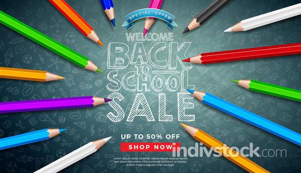 Back to School Sale Design
