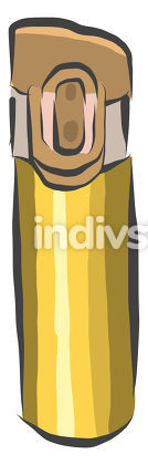 Clipart of a golden colored thermos flask vector or color illust