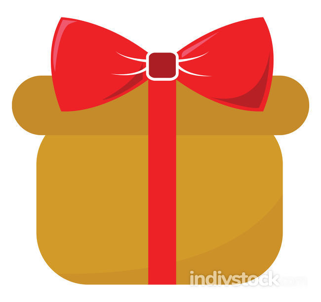 Clipart of a yellow gift box
