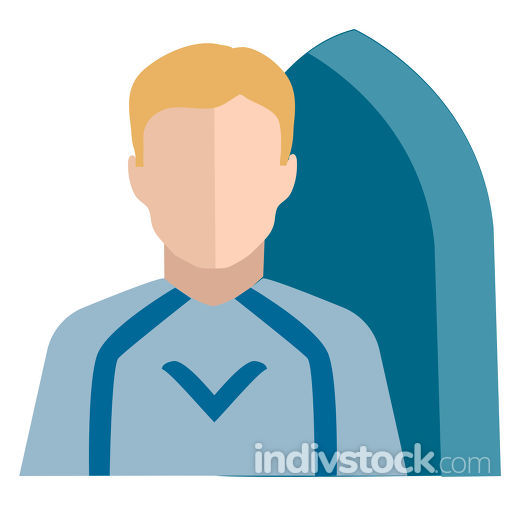 Clipart of the character surfer vector or color illustration