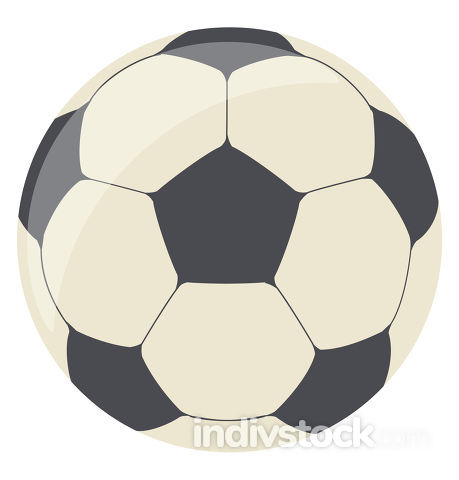 Football ball, vector or color illustration.